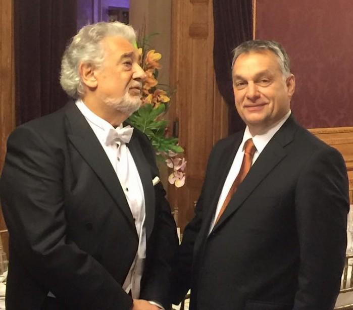 Placido Domingo and Viktor Orbán.