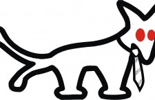 The logo of the Hungarian Two-tailed Dog Party