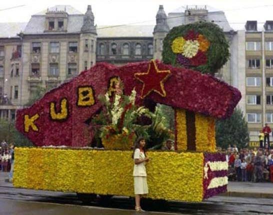 Socialist Cuba theme from the 1970s.