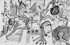 "Káosz / Chaos. Source: Pieris.hu -- Hungarian Interactive Portal of Contemporary Art / Artist: ""sin of god"""