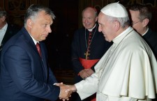 Viktor Orbán with Pope Francis. Photo: Facebook.