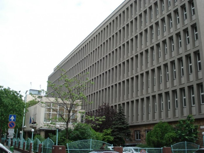 Constitution Protection Office headquarters in Budapest.