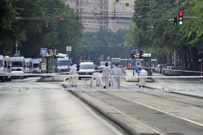Budapest explosion of 'unknown origin' injures two police officers