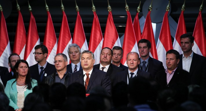 Viktor Orbán speaks after his referendum was declared invalid by the National Election Office.