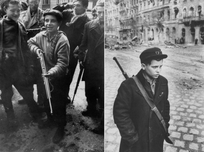 Child soldiers in Budapest in 1956