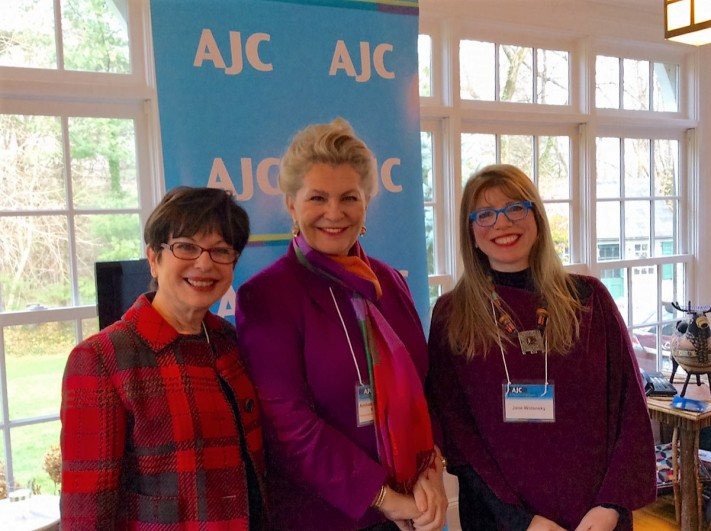 Ambassador Bogyay (in the middle) assured American Jewish Committee (AJC) members that Hungary is committed to the fight against anti-Semitism.