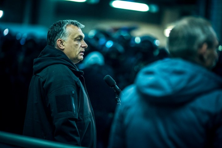 Viktor Orbán observes a simulated terrorist attack in Budapest, and the subsequent counter-terror response.