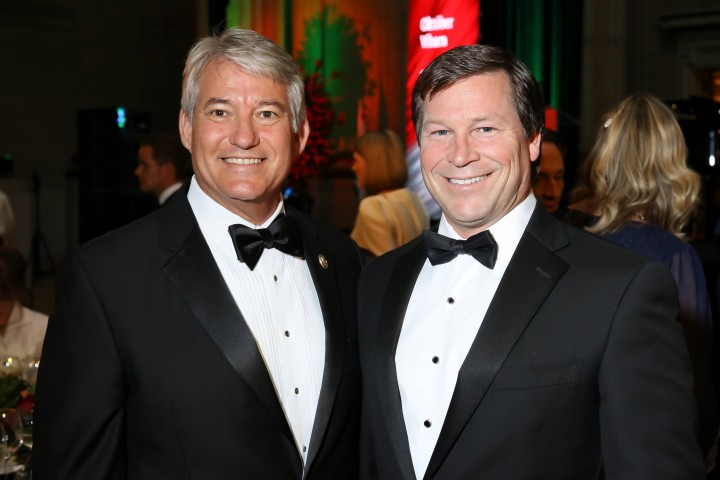 Florida Republican Congressman Dennis Ross (left) and Hungary's high paid lobbyist in Washington, Connie Mack (right).