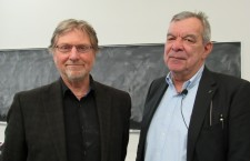 András Göllner with László Rajk. Photo: C. Adam.