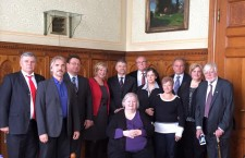 Canadian members of the Diaspora Council with Parliament Speaker, Mr. László Kövér (with mustache back in the middle), next to him Canadian Council co-chairs Ms. Anna Szenthe and Mr. Tibor Ábrahám.