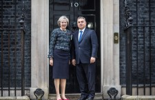 Prime Minister Viktor Orbán meets British Prime Minister Theresa May at 10 Downing Street on November 9th, 2016. Photo: Viktor Orbán's Facebook page.