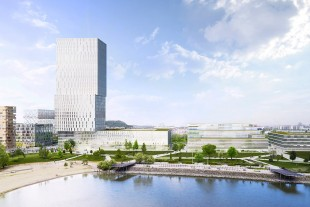 The 120-meter skyscraper approved for the banks of the Danube. Photo> BudaPart.hu.