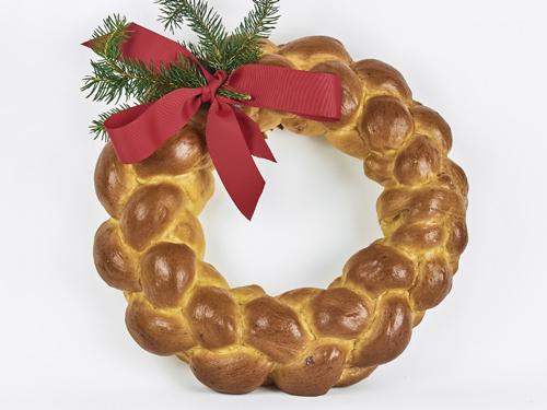 Challah holiday wreath