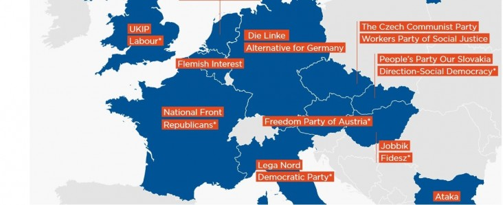 The Atlantic Council's map of Putin friendly political parties in Europe.