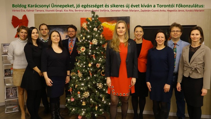 Christmas, but Missing Hanukkah Greetings from the Hungarian Consulate in Toronto