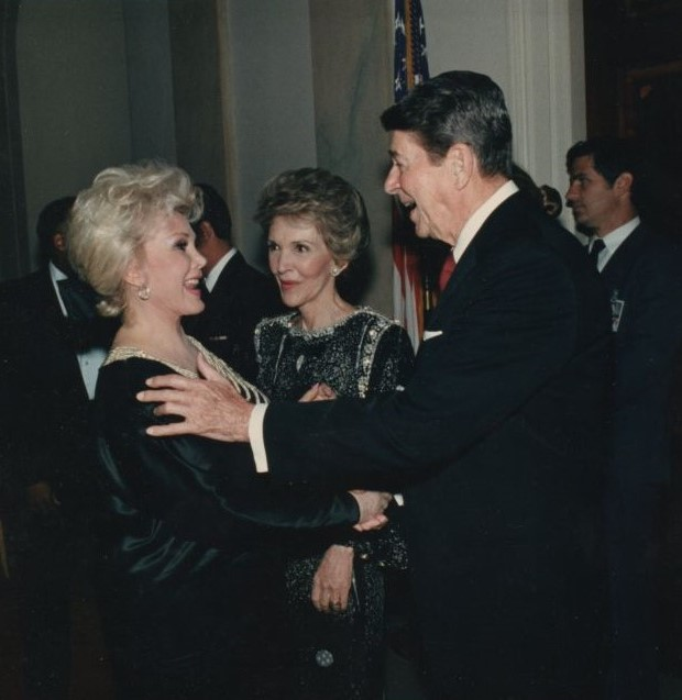 Zsa Zsa was a good friend of US President Ronald Reagan.