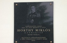 Horthy plaque in Budapest XVI District.  Dozens of Horthy memorabilia were installed.