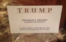Ms. Sarka received Mr. Trump's busines card