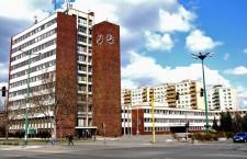 Dunaújváros city centre, with City Hall on the left.