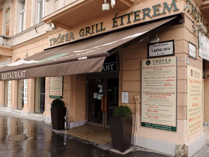 Trófea Grill Restaurant in Budapest, at Margaret Bridge (Buda side). Photo: Tasty Buddy.