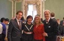 (from left to right) Mr. Kristóf Altusz, Hungarian State Secretary, Ambassador Szemerkényi, Rep. Blackburn and her husband.