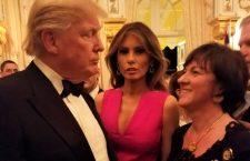 Ambassador Szemerkényi's Twitter with President Trump, his wife Melania in the middle and Ambassador Réka Szemerkényi.