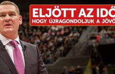 László Botka and his slogan: The time has come to re-think the future.