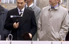Viktor Orbán and Joschka Fischer in 1999.