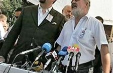 Mr. Gorka and Jobbik's ex-vice-chairman Mr. Molnár announce their political movement in Budapest in 2006