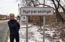 Geert Wilders visiting his wife's village - Nyírparasznya