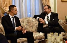Mr. Péter Szijjártó, Hungary's Foreign Minister and Mr. Sebastian Gorka President Trump's counterterrorism adviser.