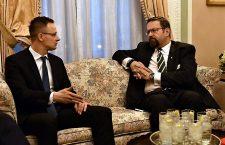 Mr. Péter Szijjártó, Hungary's Foreign Minister and Mr. Sebastian Gorka President Trump's counterterrorism adviser.