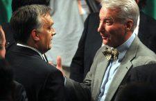 Professor E. Szilveszter Vizi (right) supports Viktor Orbán