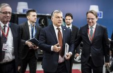 Viktor Orbán in Brussels on Saturday. Photo: MTI.