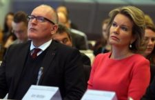 Frans Timmerman and Queen Mathilde of Belgium