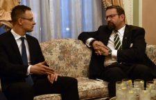 Péter Szijjártó and Sebastian Gorka.