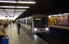 The refurbished metro car at the Pöttyös utca station on the M3 line. Photo: Máté Kemény.