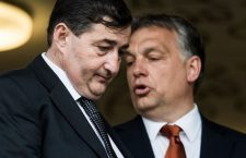 Lőrinc Mészáros (left) with Prime Minister Viktor Orbán. Photo: HVG