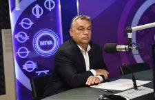 Viktor Orbán on Kossuth Radio, in Budapest, on September 8, 2017 / MTI. Tibor Illyés