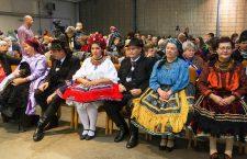 Residents of Őcsény attending a celebration in traditional clothing. Photo: ocseny.hu
