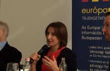 Zsuzsanna Szelényi speaking at a conference organized in Budapest earlier this month by Political Capital on the prospect of joining the Eurozone.