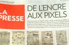 The last print edition of La Presse.
