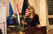 Susan Hutchison at the Hungarian embassy in Washington DC