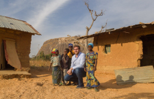 "Péter Heltai in Nigeria. His tweet posted with this photo read: Just went back a ""few"" hundreds of years in time #Kajuru #Kaduna #Nigeria #Nomads #HungaryHelps"
