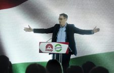 Gergely Karácsony, as the joint MSZP-Párbeszéd candidate for prime minister. Photo: MTI.