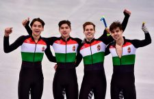 Hungary's team wins gold at the Winter Olympics. Photo: MTI / Zsolt Czeglédi.