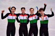 Hungary's team wins gold at the Winter Olympics. Photo: MTI / Zsolt Czeglédi.