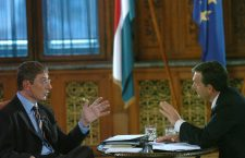Viktor Orbán debates then Prime Minister Ferenc Gyurcsány in 2006. The experience was so jarring for Mr. Orbán that he never again engaged in debate with an opponent.
