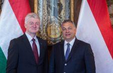 Heinrich Hiesinger CEO of ThyssenKrupp and Prime Minister Viktor Orbán.