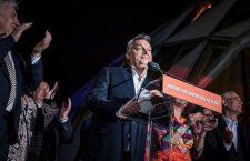 Viktor Orbán on election night.